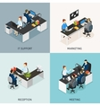 Office Isometric Icon Set vector image