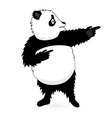 Panda Bear standing on white vector image