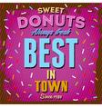 Vintage donuts poster vector image