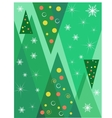 Christmas background with trees vector image vector image