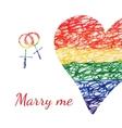 wedding heart card vector image