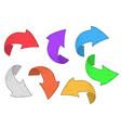 colored arrows hand drawn sketch vector image