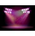 An empty stage with spotlights vector image vector image