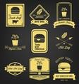 Fast Food Vintage Label vector image