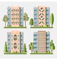 Panel houses flat set3 vector image