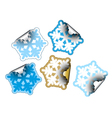 snow flakes stickers vector image vector image