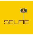Taking Selfie Photo on Smart Phone or Tablet vector image