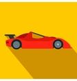 Speeding race car flat icon vector image vector image