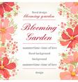 invitation with abstract flowers vector image