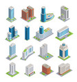 buildings isometric set vector image