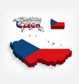 czech republic 3d flag and map vector image