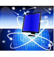 IT Computer Background vector image vector image