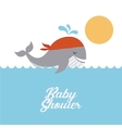 animal cute baby shower invitation vector image