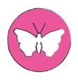 emblem butterfly feminist defense design vector image