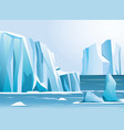 Arctic landscape iceberg and vector image