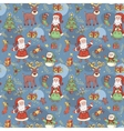 Blue holiday seamless background vector image