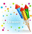 festive background with firecrackers and confetti vector image vector image