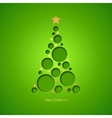 Christmas card with Christmas tree vector image