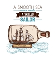 Sailboat In Bottle Color Concept vector image