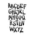 Hand drawn grunge font alphabet vector image