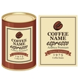label of coffe beans vector image