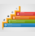 Education Infographics in the form of pencil vector image