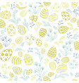 floral holiday pattern easter egg seamless vector image