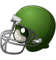 Green Football Helmet vector image