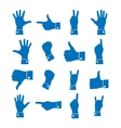 Icons hand vector image