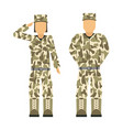 military character weapon symbols armor man vector image
