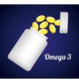 omega 3 vector image
