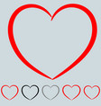 red and other color heart in the art style vector image