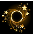 round banner with stars vector image