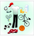 sport life style vector image