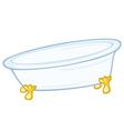 Standing bathtub vector image