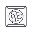 ventilation line icon sign vector image