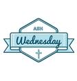 Catholic ash wednesday greeting emblem vector image