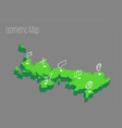 map united kingdom isometric concept vector image