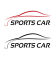 Calligraphic sport car logo template vector image vector image