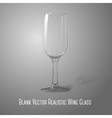 Blank tall transparent photo realistic isolated on vector image