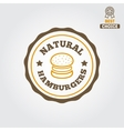 Logo label sticker for fast food restaurant vector image