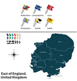 East of England vector image