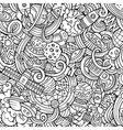 Cartoon hand-drawn doodles on the subject of space vector image vector image