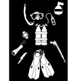 Equipment for Diving vector image