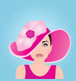 a girl in a pink bonnet vector image
