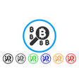bitcoin search flat icon vector image