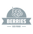 eco berries logo simple gray style vector image