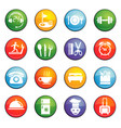 hotel room service icon set vector image