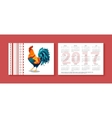Pocket Calendar 2017 Chinese vector image