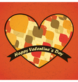 valentine day card with with decorative shapes vector image